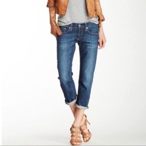 AG The Tomboy Crop Relaxed Straight Jeans